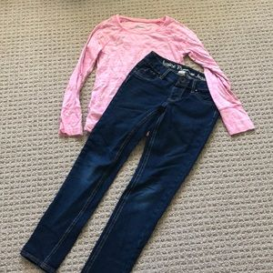 Girls size 8 Two-piece Justice Outfit: Jeans & Top